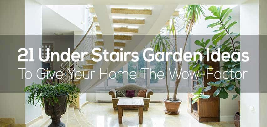 21 Under Stairs Pebble Garden Ideas